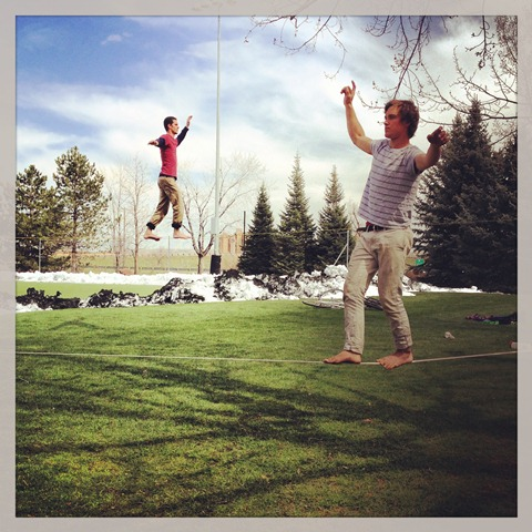 Walking the Line - Slacklining and Highlining (1/6)