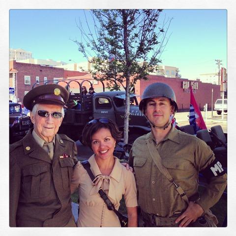 With Veteran, Ron Konkel