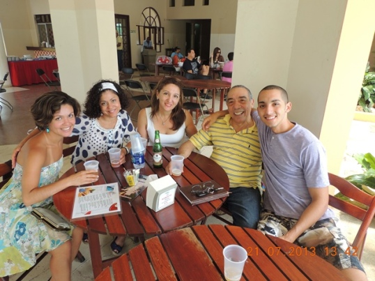 Mama and me with Marisol and her husband and son.